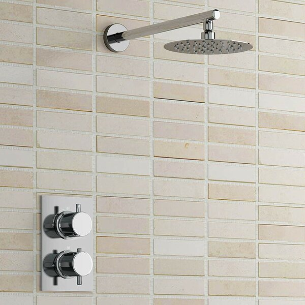 Nariman Ultra Thin Thermostatic Complete Shower System with Rough-in Valve by FontanaShowers FontanaShowers