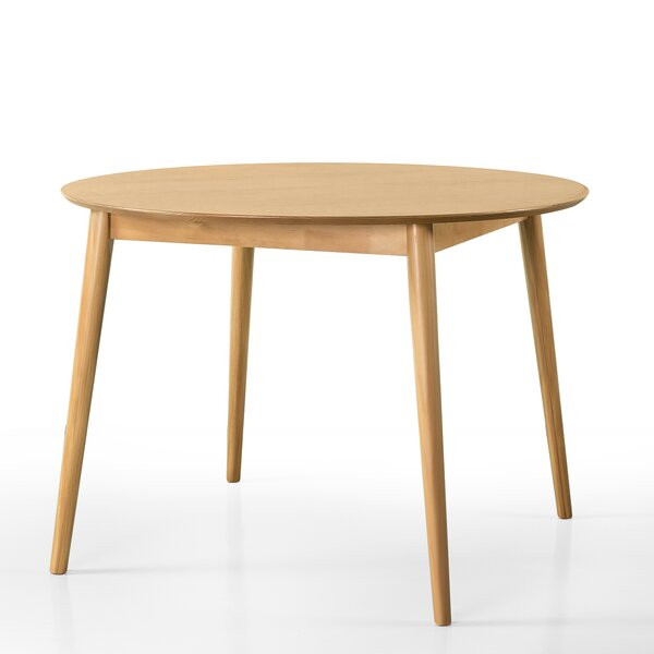 Beech Solid Wood Dining Table By George Oliver Wonderful