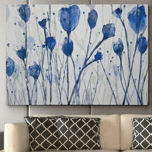 Blue Day Garden by Susan Jill Painting Print on Wrapped Canvas by Wexford Home