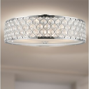 Crystal light flush mount wayfair save aloadofball Image collections