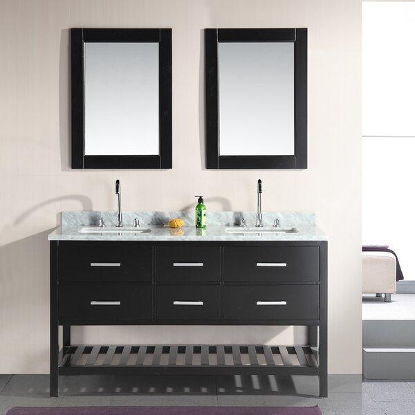 Carrasquillo 61 Double Bathroom Vanity Set with Mirror