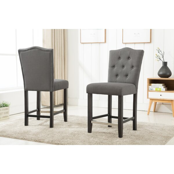 Fontanne Counter Height Upholstered Dinning Chair (Set of 2) by Darby Home Co