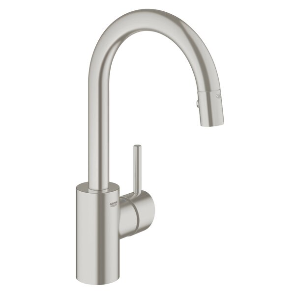 Concetto Single Handle Kitchen Faucet with Side Spray and SilkMove® by Grohe
