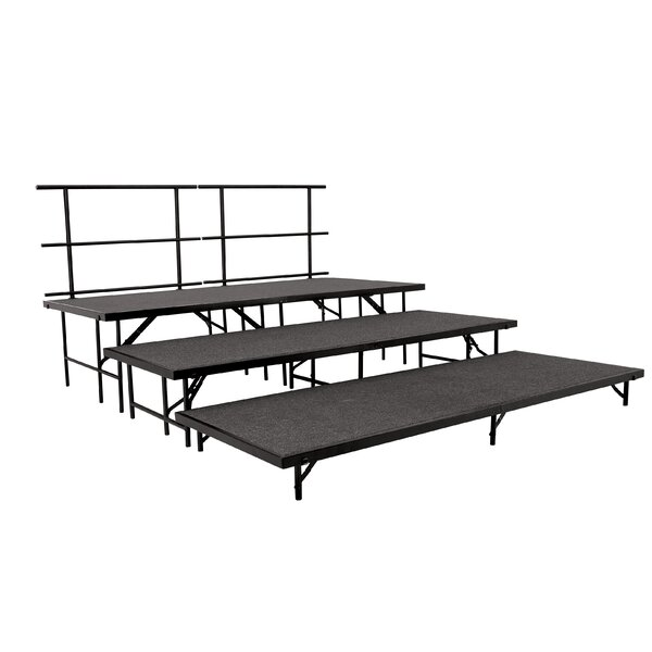 Portable Stage & Seated Riser Set in Hardboard by National Public Seating
