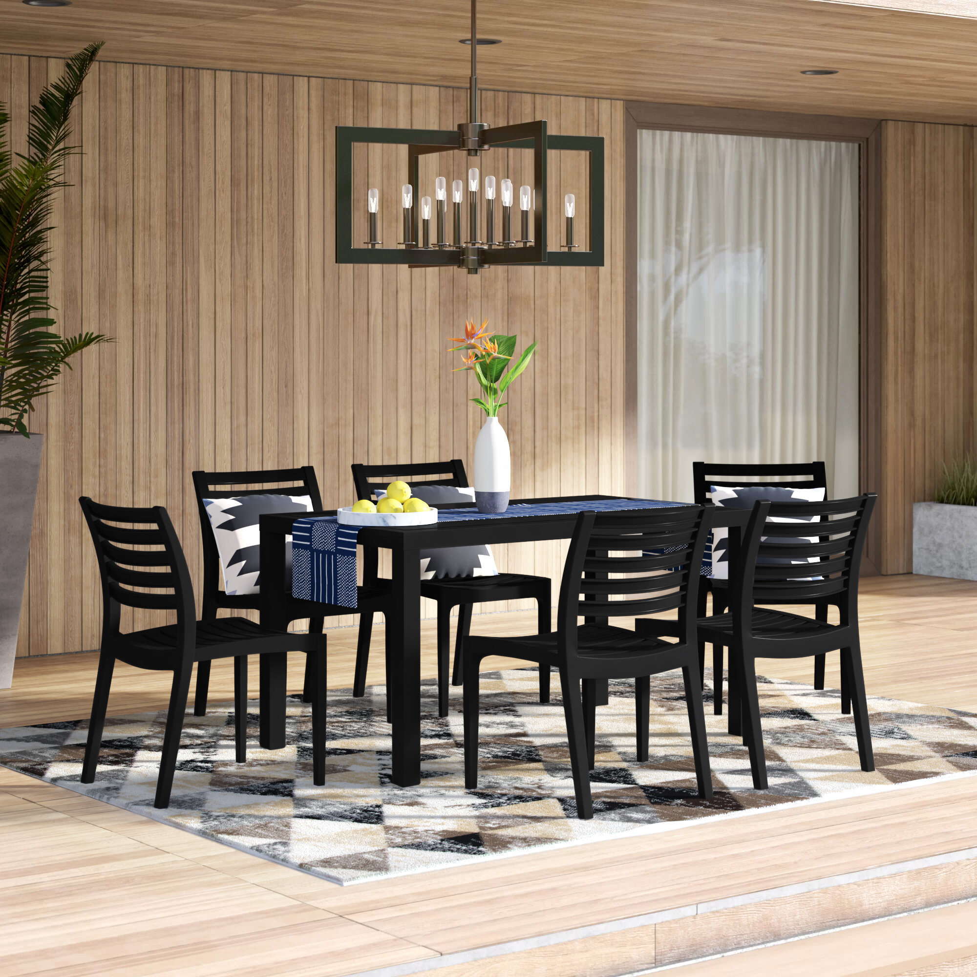 Mercury Row® Melissus 7 Piece Dining Set & Reviews | Wayfair