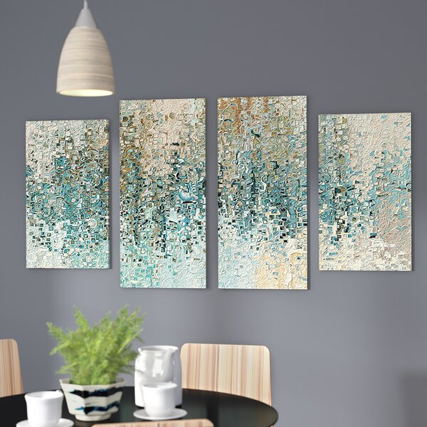 Revealed Framed 4 Piece Set On Canvas By Latitude Run.