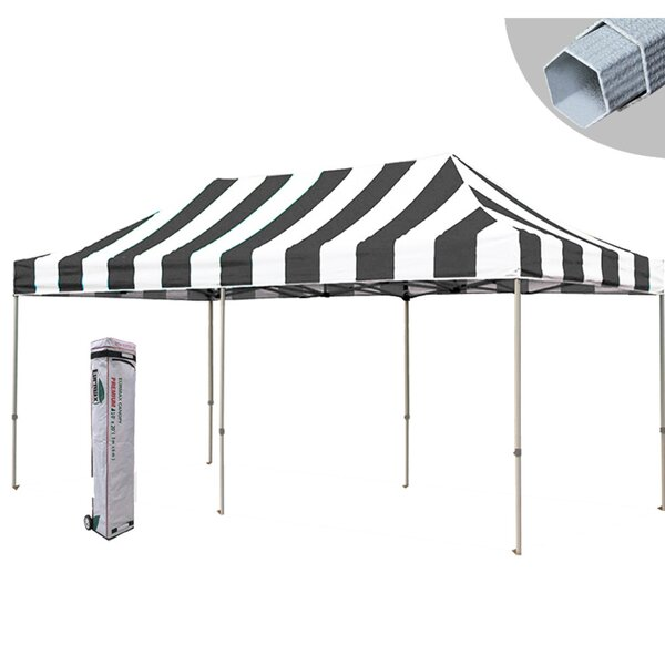 Premium 10 Ft. W x 20 Ft. D Metal Pop-Up Party Tent by Eurmax