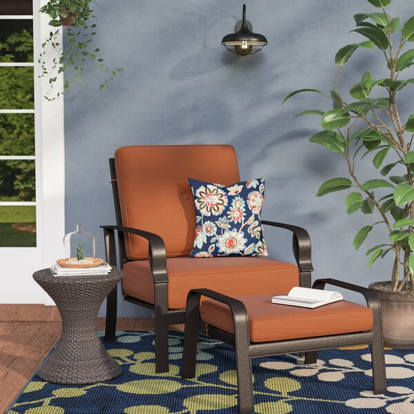Waynesburg Deep Seating Club Chair & Ottoman with Cushions by Red Barrel Studio