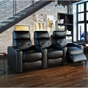 Power Leather Home Theater Sofa Ebern Designs