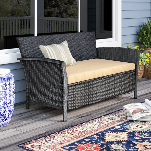 Mullenax Outdoor Loveseat With Cushions By Ivy Bronx