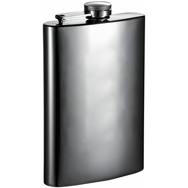 Brons Mirrored Gunmetal Liquor Flask by Visol Products