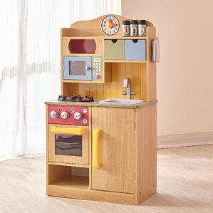 Beautiful Little Chef Wooden Play Kitchen With Accessories