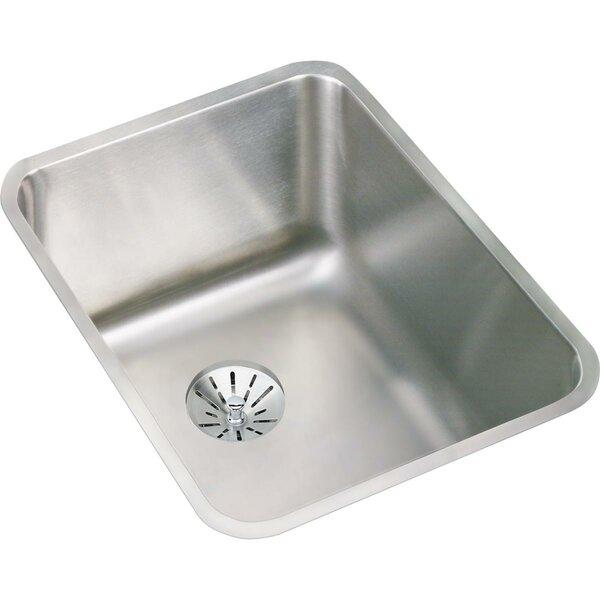 Lustertone 17 x 21 Undermount Kitchen Sink with Basket Strainer by Elkay