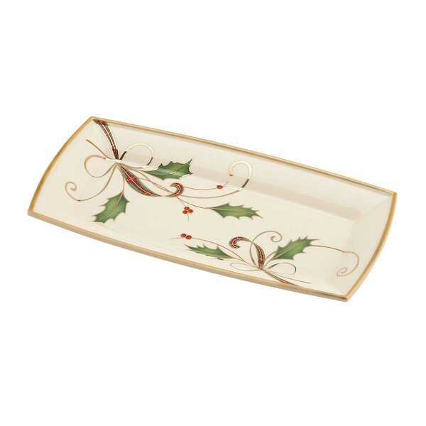 Holiday Nouveau Bone Chine Tray by Lenox