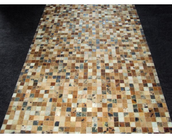 Patchwork Golden Garnet Rug by Modern Rugs