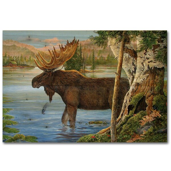 Majestic Moose by Carol Decker Painting Print Plaque by WGI-GALLERY
