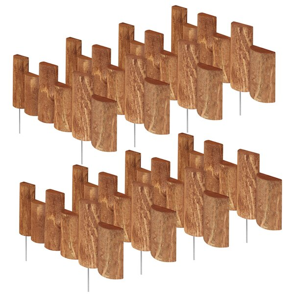 7 in. H x 18 in. W 8 Pack Half Log Edging (Set of 8) by Greenes Fence