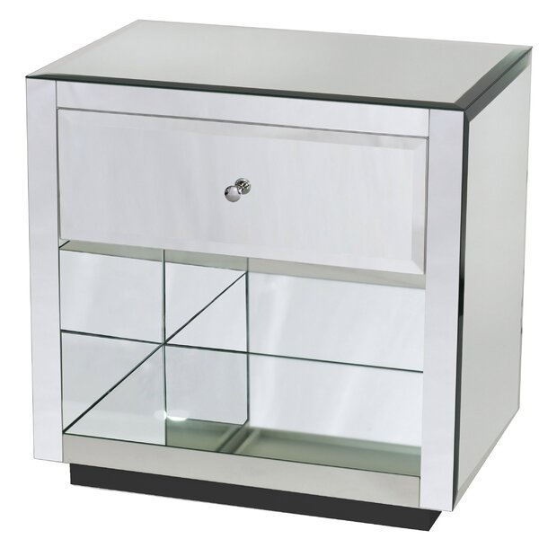 Plain Mir 1 Drawer Nightstand by Worlds Away