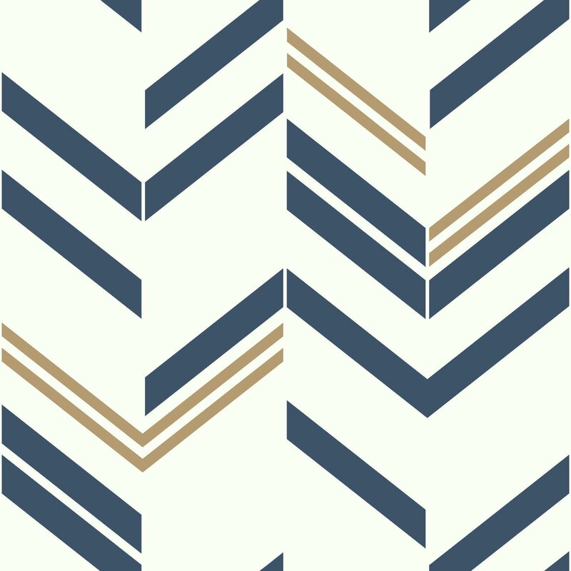 Timm 16 5 L X 20 W Chevron And Herringbone Stick Wallpaper Roll