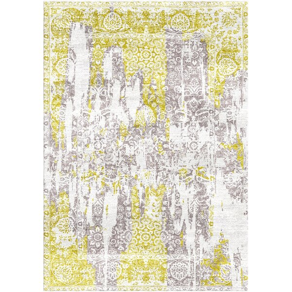 Aliza Handloom Gold/Gray Area Rug by Bungalow Rose