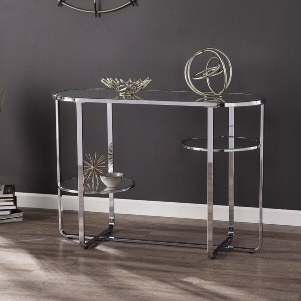 Review Mirrored Console Table W/ Storage
