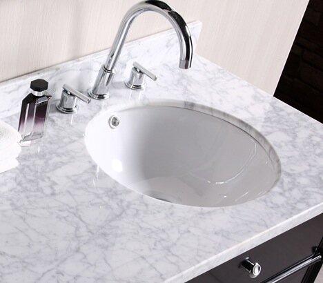 American Imaginations Ceramic Circular Undermount Bathroom Sink with Overflow by American Imaginations