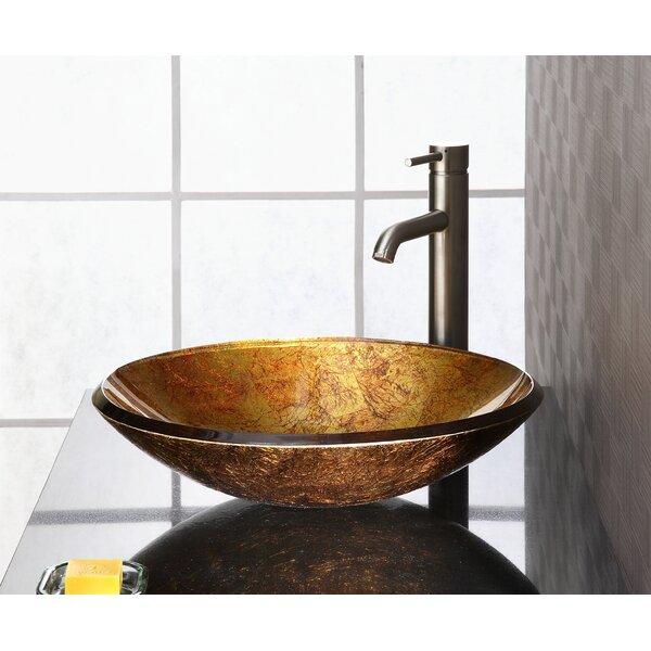 Reflex Glass Circular Vessel Bathroom Sink