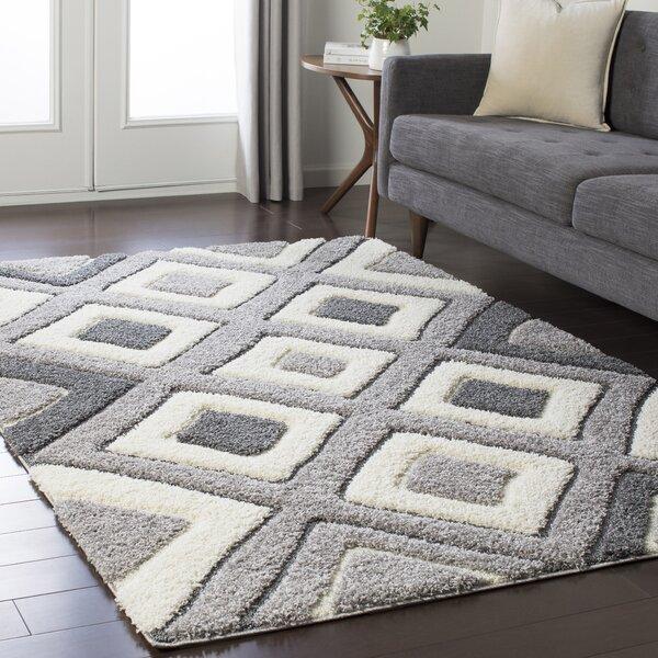 Marketfield Soft Geometric Gray Area Rug by Wrought Studio
