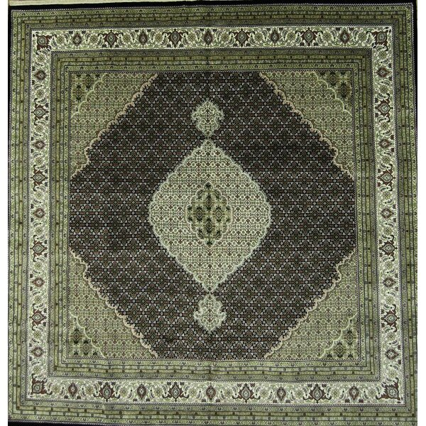 One-of-a-Kind Miranda Oriental Hand-Knotted Wool Green/Beige Area Rug by Astoria Grand