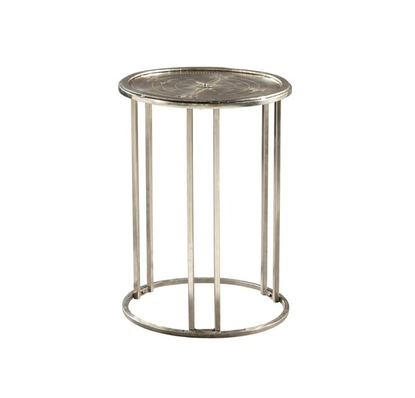 Bernadette Compass End Table by 17 Stories