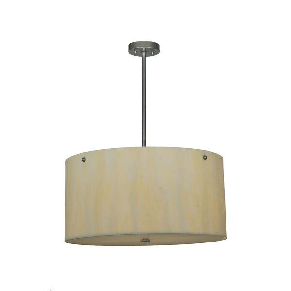 Cilindro Faux Alabaster 6-Light Unique / Statement Drum Chandelier By Meyda Tiffany