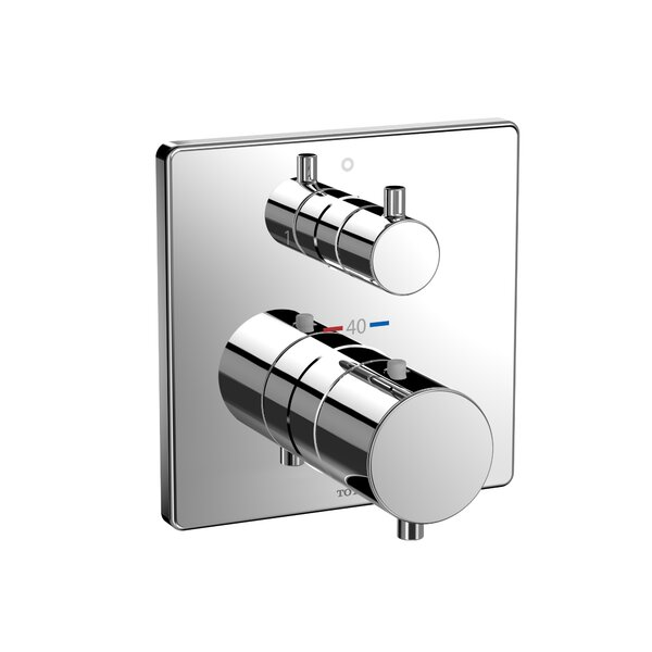 Square Thermostatic Mixing Valve with Two-Way Diverter Shower Trim by Toto