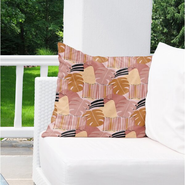 Jager Outdoor Square Cotton Pillow Cover and Insert