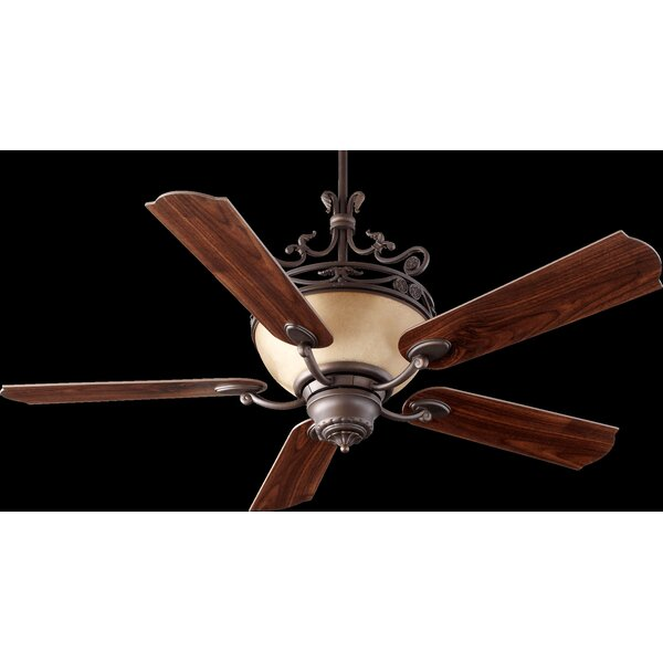 56 Turino 5-Blade Ceiling Fan with Wall Control by Quorum