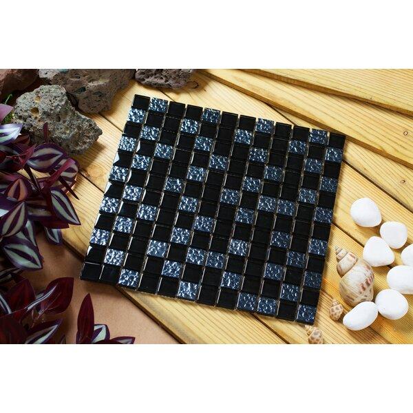 Bella 12 x 12 Glass Mosaic Tile in Midnight Blue by Mirrella