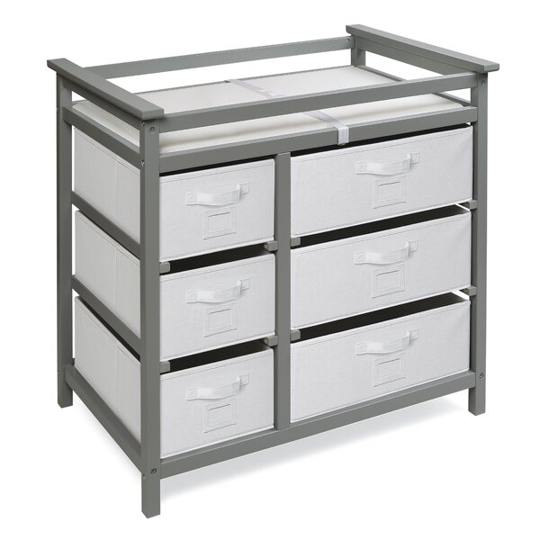 Heid Modern Changing Table with 6 Baskets by Zoomie Kids