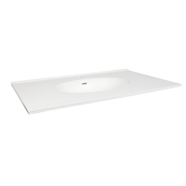 Lav Ceramic Rectangular Drop-In Bathroom Sink with Overflow by Ronbow