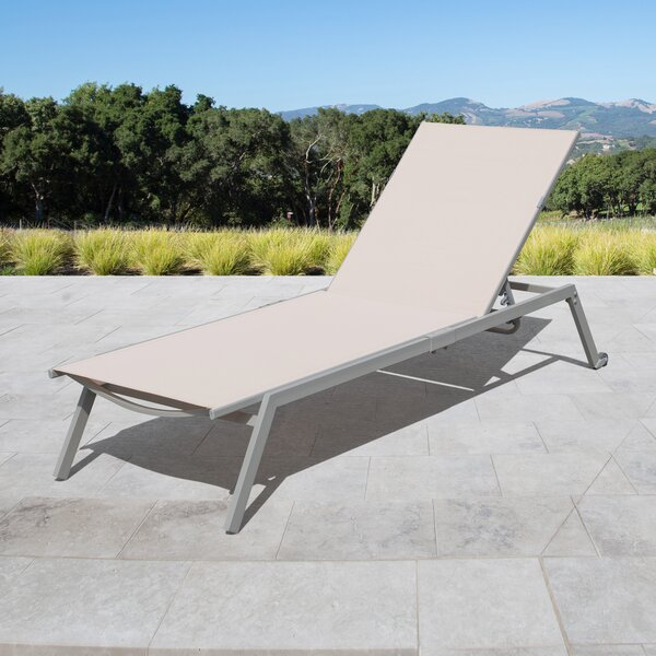 Anchill Adjustable Sling Reclining Chaise Lounge