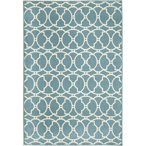 Baltimore Blue Indoor/Outdoor Area Rug by Beachcrest Home