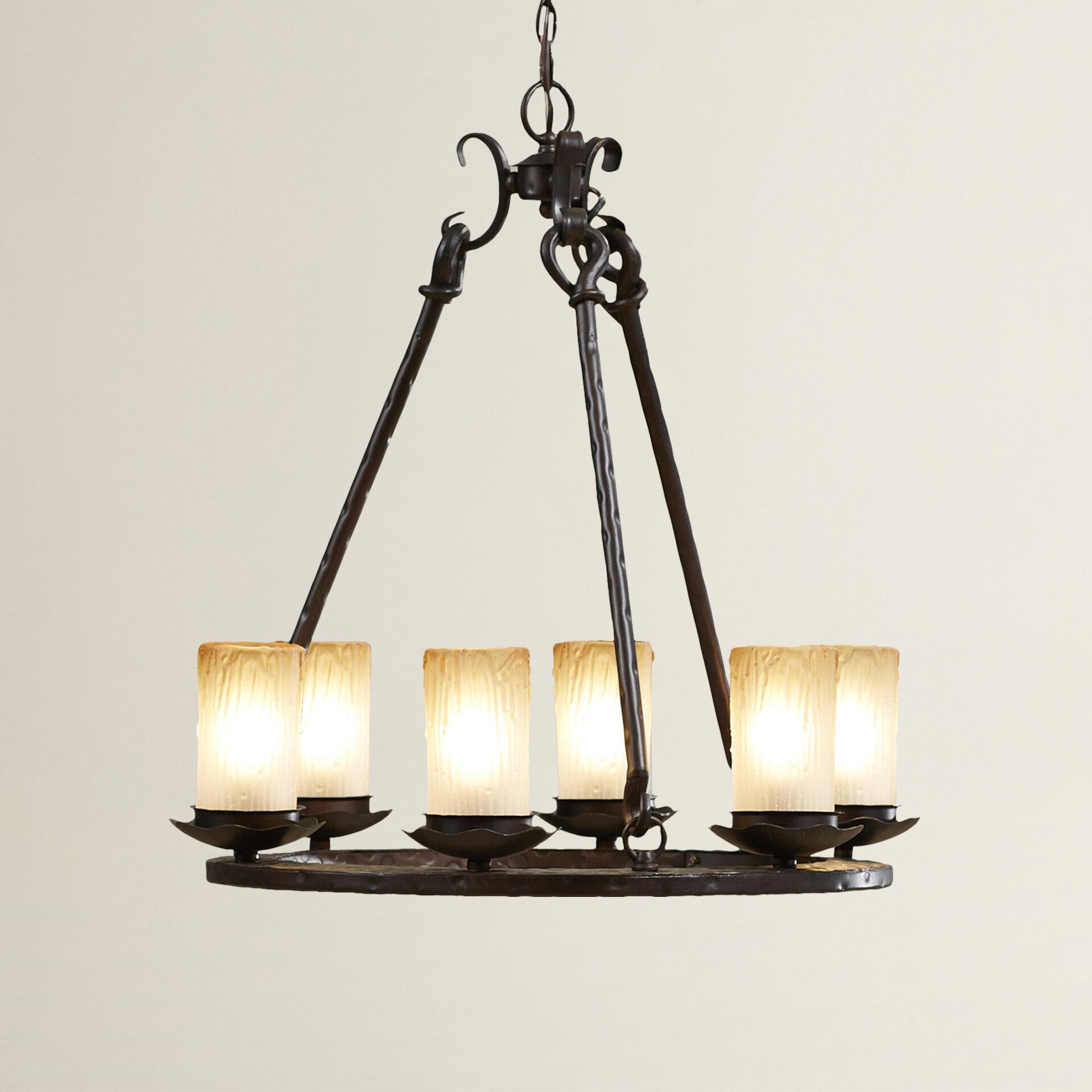 Rowan 6 Light Shaded Chandelier & Reviews