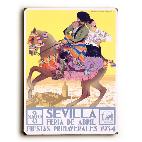 1934 Sevilla Fiesta Graphic Art by Artehouse LLC