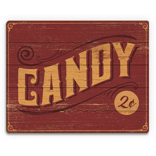 Vintage Candy Vintage Advertisement on Plaque by Click Wall Art