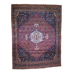 One Of A Kind Stepanie Antique Persian Bijar Exc Condition Hand Knotted 14 6 X 19 Wool Brown Red Navy Area Rug