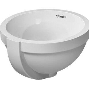 Price comparison Architec Ceramic Circular Undermount Bathroom Sink with Overflow By Duravit
