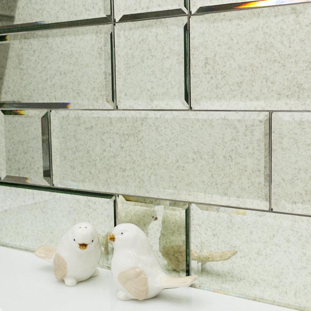X 12 Beveled Gl Subway Tile