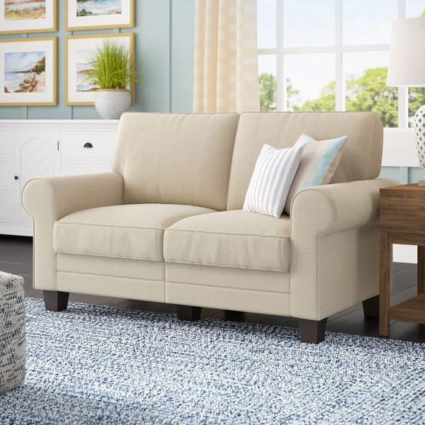 Buxton 61 Rolled Arm Loveseat by Beachcrest Home