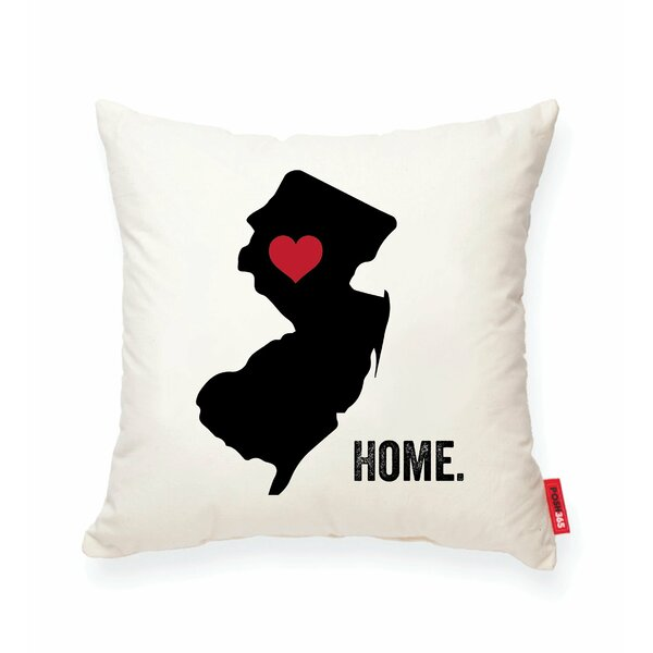 Pettry New Jersey Cotton Throw Pillow by Wrought Studio