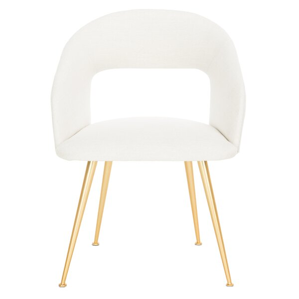Maen Linen Blend Upholstered Side Chair by Willa Arlo Interiors