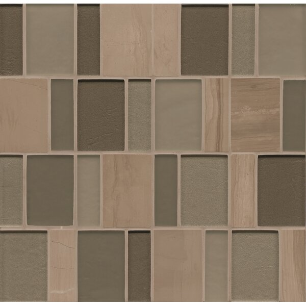 Remy Glass 12 x 12 Stone/Glass Mosaic Brick Blends in Bellingham by Grayson Martin