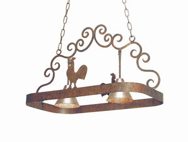 Poulet 2 Light Hanging Pot Rack by 2nd Ave Design